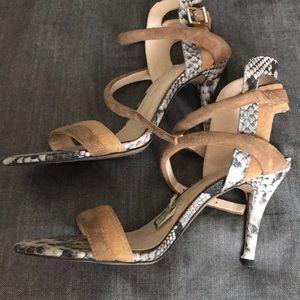 Snake skin heels.